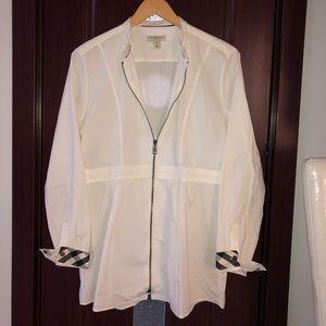 Burberry Peplum Shirt with Zipper